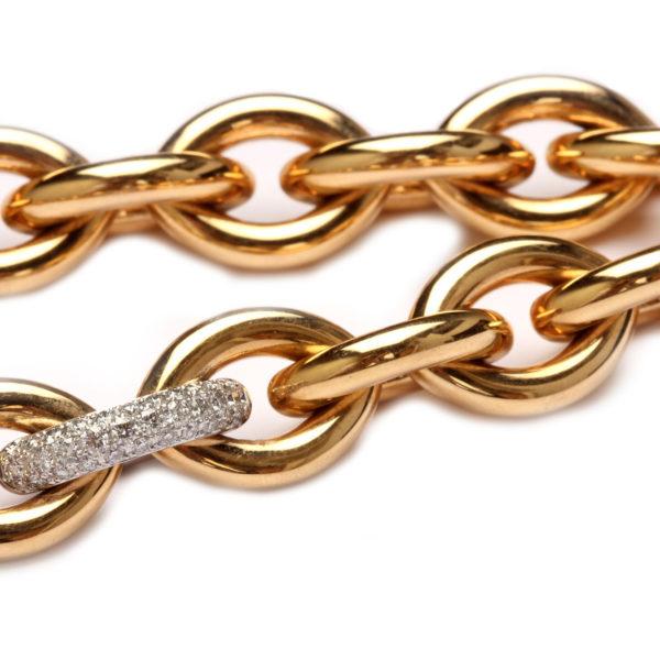 Collier in Gold mit Diamanten