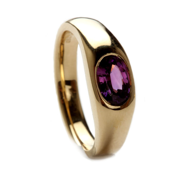 Ring in Gold mit Saphir