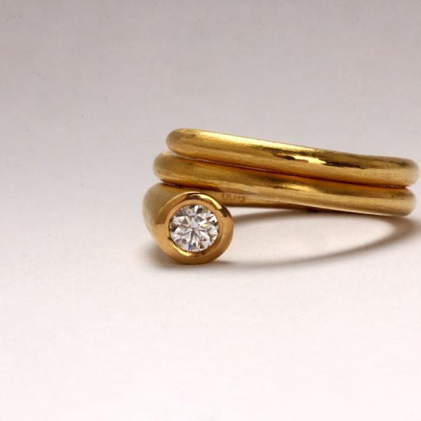 Ring in Gold mit Diamant