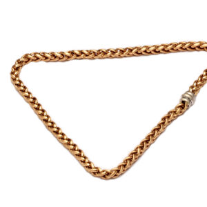 Collier in Gold, Zopfmuster